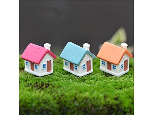 FenBuGu-JP DIYのミニチュアランドスケープレジンキュートな家庭装飾工芸家ガーデンホーム(赤)の商品画像