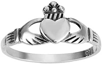 Benediction of the Claddagh Ring Sterling Silver 925 (Sizes 2-14)
