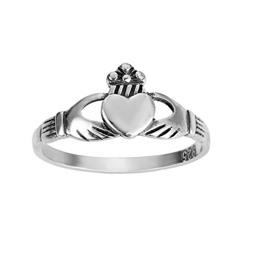 Sterling Silver Benediction of the Claddagh Ring Size 5