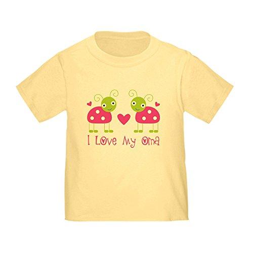 - CafePress I Love Oma Ladybug Toddler T-Shirt Cute Toddler T-Shirt, 100% Cotton Daffodil Yellow