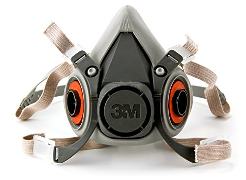 3M Half Facepiece Reusable Respirator 6200/07025(AAD), Respiratory Protection, Medium(Pack of (Airsoft Series)