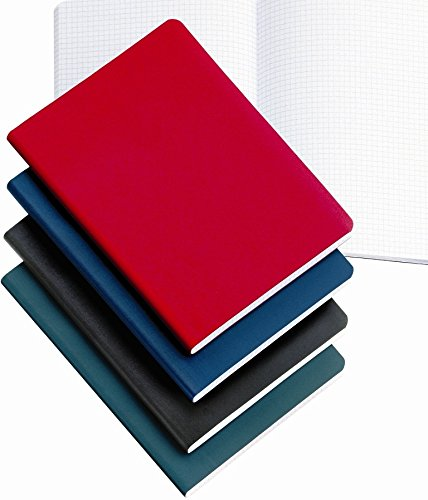 Miquelrius Soft Bound Medium Journal, 300 Sheets/600 Graph Pages, Blue