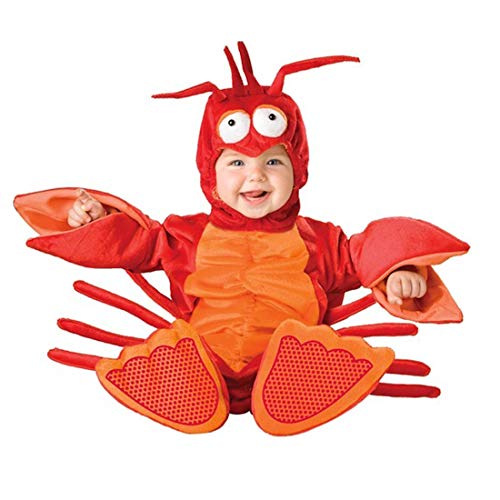NormCorer - Cute Infants Baby Costume - Halloween Toddler Cartoon Animal Hooded Flannel Romper Outfits (12-18months, Crab) ()