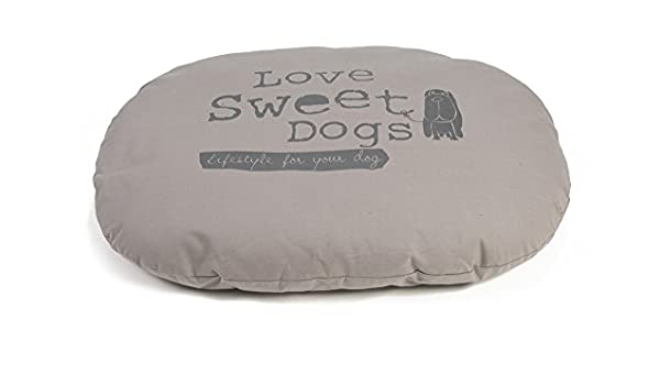 Beeztees Cojín oval perros, color gris, 95 x 75 cm: Amazon.es: Productos para mascotas