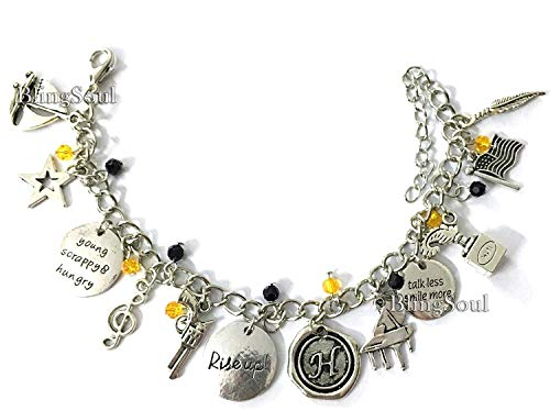 Broadway Musical Alexander Jewelry Merchandise Charm Bracelet Rise Up Friendship Gifts - American Lin-Manuel Miranda Chain Bangle Bracelets Women Costumes -