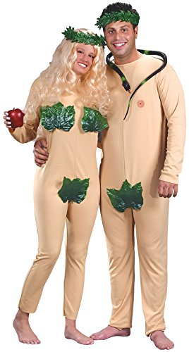 Faerynicethings Adult Size Adam & Eve Adult Couple Costumes - 2 Costumes
