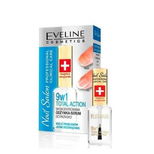EVELINE COSMETICS nail salon 9 in1 total action concentrated nail conditioner 12ml.