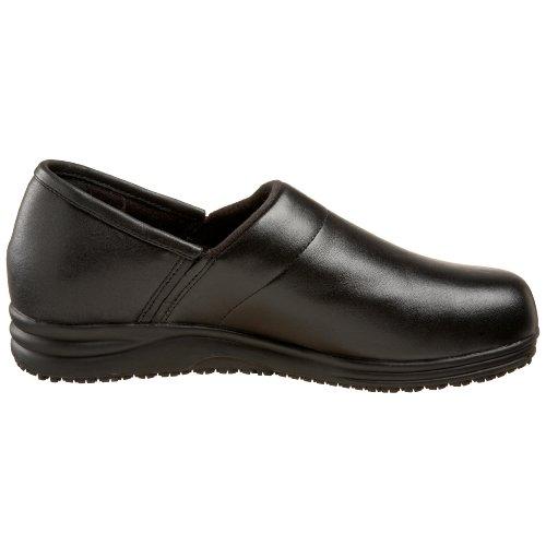 Confort Debout Femme Breeze Plain Toe Slip-on Noir