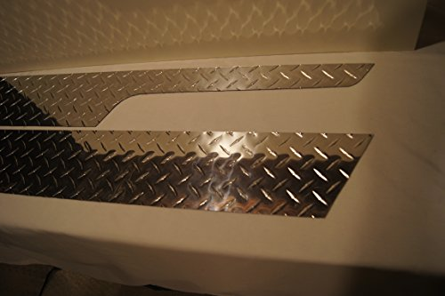 Diamond Plate Side Covers - 1997 - 2006 JEEP TJ WRANGLER 5 1/4 DIAMOND PLATE ROCKER COVER GUARDS WITH CUT-OUTS HIDES RUST AND DAMAGE !!!