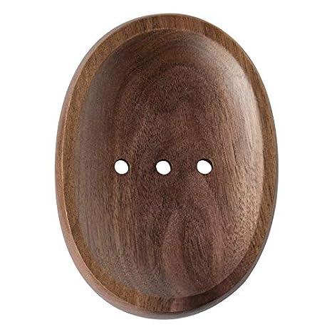 Newbeer Seifenschale Holz Schwarz Walnuss Handgefertigte Seife