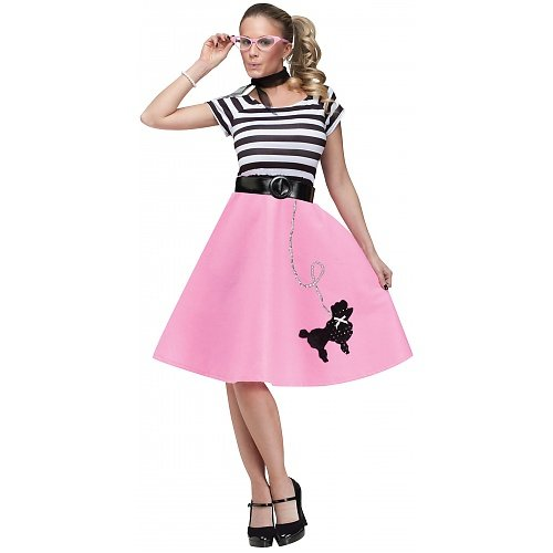 Fun World  Women's 50's Poodle Dress - Medium / Large -