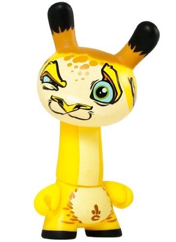 Kidrobot Dunny 2012 3-inch Vinyl Figure - SCRIBE Giraffe Animal Endangered