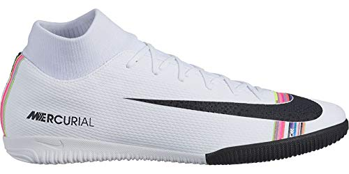 Nike SuperflyX 6 Academy LVL UP IC Soccer Shoes (White/Multi-Color) (Men's 10/Women's 11.5)