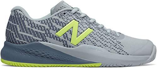 New Balance Women's 996v3 Tennis-Shoes,light porcelain blue/solar yellow75 B US (New Tennis Apparel Balance)