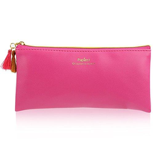 PU Leather Pencil Case Pouch Bag with Zipper,Pencil Case Sof