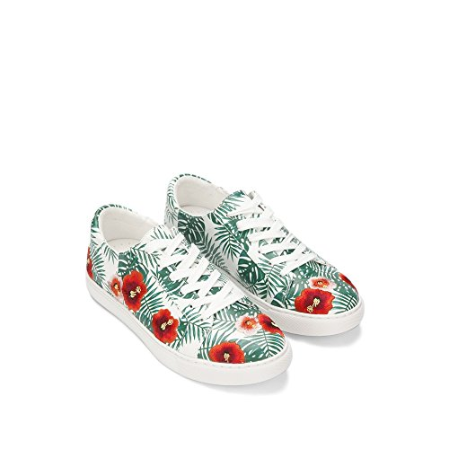 York Kam Multi up Kenneth New Print Green Womens Palm Lace Cole Sneaker AEUq7