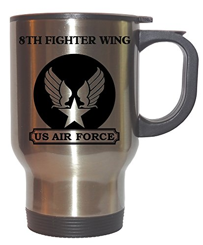 8th Fighter Wing - US Air Force Stainless Steel Mug, 1026