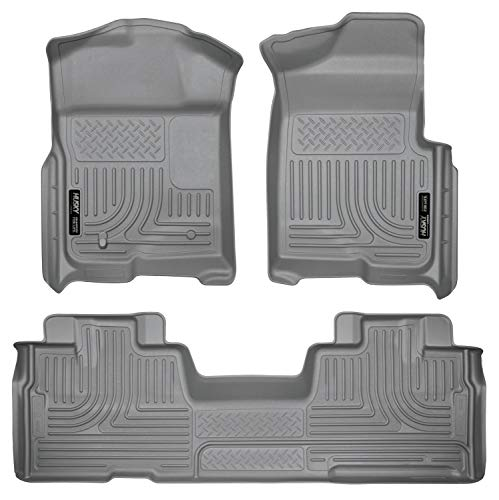 Husky Liners Fits 2009-14 Ford F-150 SuperCab without Manual Transfer Case Shifter Weatherbeater Front & 2nd Seat Floor…