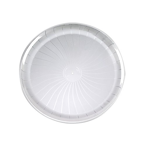 EMI Yoshi EMI-480-C Party Tray, Round, 18'', Clear (Pack of 25)