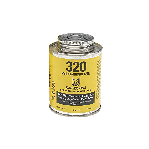 K-Flex Usa Rubatex R-320 Contact Adhesive, Amber, 1 pt. ()