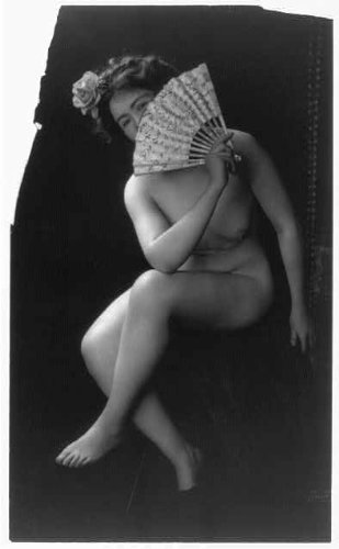 Photo: The Coquette,Nude woman with fan,190?