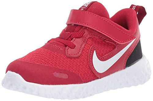 Nike Baby Revolution 5 Toddler Velcro Running Shoe, Gym Red/Whiteblack, 2C Regular US (Nike Revolution 2 Toddler Boys)