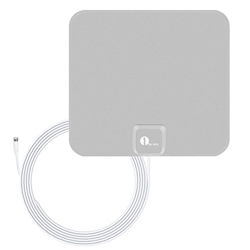 1byone 25 Miles Super Thin HDTV Antenna with 16...