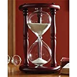 Lily's Home Hourglass Timer 60 Minute Cherry Wood Sand Clock 9.5 Inch