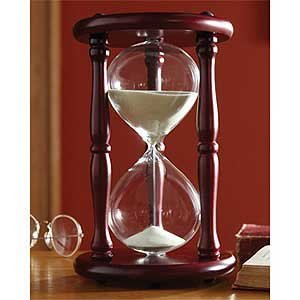 Hourglass Timer 60 Minute Cherry Wood Sand Clock 9.5 Inch by Lily's Home (1 Hour Hourglass)