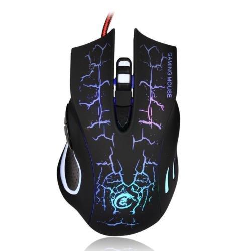 Focuslife New USB 2.0 5500DPI Wired Gaming Mouse Backlight Illuminated Multimedia Mice