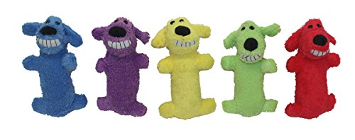 Multipet International Original Loofa Dog Mini 6-Inch Dog Toy (Assorted colors)