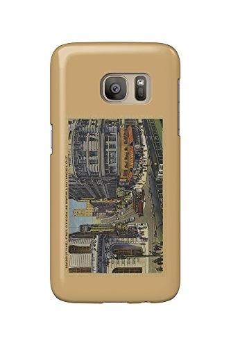 Cable Cars on Market and Powell Street San Francisco (Galaxy S7 Cell Phone Case, Slim Barely - Market San Street Francisco Powell And