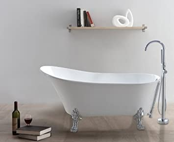 freistehende Badewanne CLASSICO-W (weiß): Amazon.de: Baumarkt