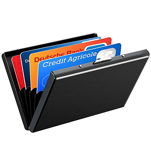 VicTsing RFID Credit Card Holder Protector, Stainless Steel Slim Security Card Wallet, RFID Blocking Case for Women or Men (Best Credit Cards For 640 Score)