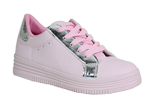 By Cuir Style Tennis Femme Shoes Plateforme raq1RrI