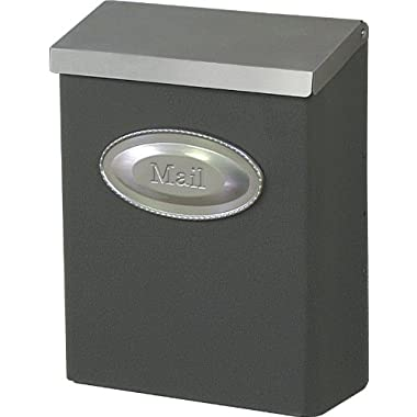 Gibraltar DVKPBZ00 Large Vertical Style Lockable Wall Mount Mailbox, Bronze and Satin Nickel