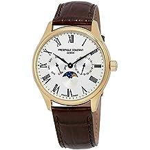 Frederique Constant Classics Silver Dial Leather Strap Men's Watch FC-260WR5B5