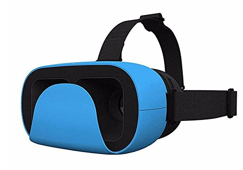 Uniify Verge Lite VR Headset UV005: 3D Virtual Reality Headset Glasses for iPhone 6/Plus, Galaxy S7, Note 6 Compatible with Google Cardboard and Daydream, Blue (Compare Samsung Galaxy S4 And S4 Active)