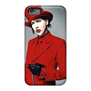 JohnPrimeauMaurice Iphone 6 Shockproof Cell-phone Hard Covers Allow Personal Design Beautiful Marilyn Manson Band Pattern [Hjr13612byFd]