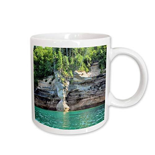 (3dRose Dreamscapes by Leslie - Scenery - Sandstone Vase - 11oz Two-Tone Blue Mug (mug_314278_6))