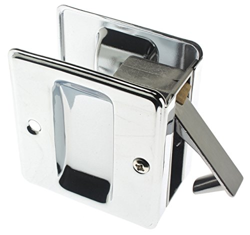 410-026 Premium Quality Solid Brass Pocket Passage Door Pull, Polished Chrome ()