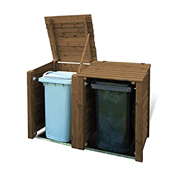 Rutland County Garden Furniture MORCOTT DOUBLE WHEELIE BIN STORAGE UNIT RUSTIC BROWN HEAVY DUTY  sc 1 st  Amazon UK & Rutland County Garden Furniture MORCOTT DOUBLE WHEELIE BIN STORAGE ...