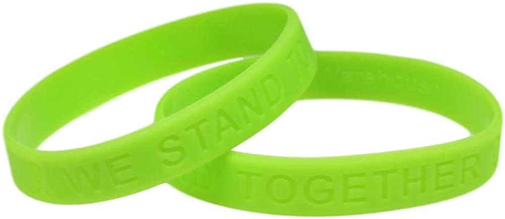 Lime Green Awareness Silicone Bracelet Buy 1 Give 1-2 Bracelets for $8.99