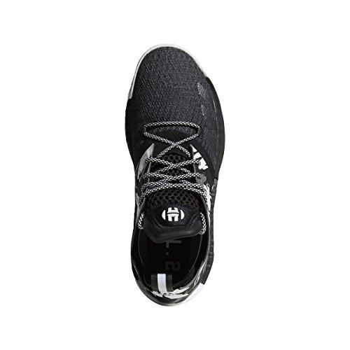 adidas Men's Harden Vol. 2 Basketball Shoes (11, Core Black/Grey/Iron Metallic)