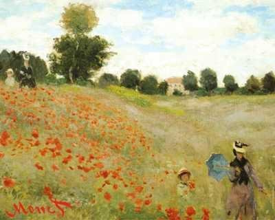 (EuroGraphics The Poppy Field, Near Argenteuil by Claude Monet. Art Poster Print 20