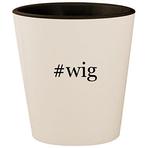 #wig - Hashtag White Outer & Black Inner Ceramic 1.5oz Shot Glass ()