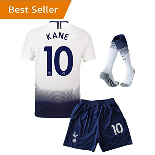 Tottenham Hotspur  10 Kane Home Kids and Youth Soccer Jersey   Shorts    Socks Color White (7-8Years Old) d900a32d9