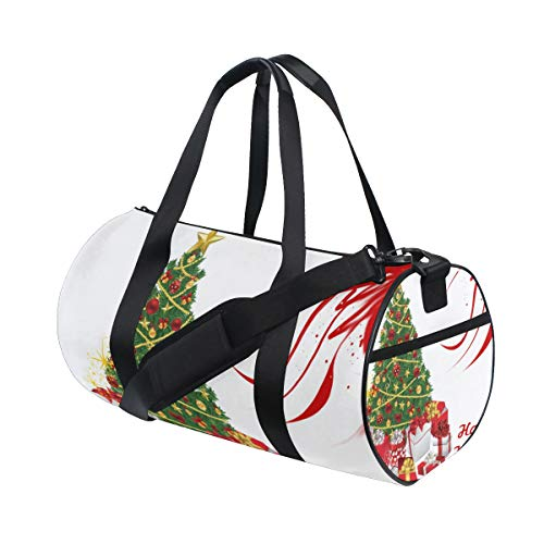 (OuLian Duffel Bag Christmas Eve Gift Womens Garment Gym Tote Bag Best Sports Bag for Men)