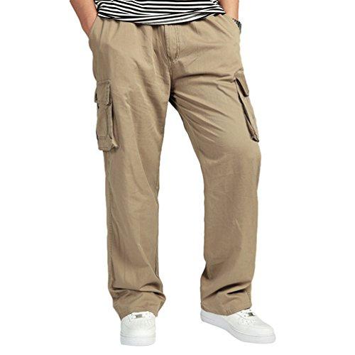 Longs Respirant De Lvguang Pantalons Unie Plage Lches Doux Hommes Jaune Décontractés Couleur 0WTwqF