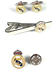 PACK Pasador de Corbata, PIN y Gemelos Real Madrid